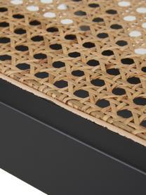Sedia a poltrona con intreccio viennese Sissi, Struttura: legno verniciato di faggi, Seduta: rattan, Nero, beige, Larg. 58 x Prof. 66 cm
