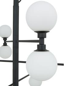 Velké závěsné svítidlo se skleněnými koulemi Grover, Černá, bílá