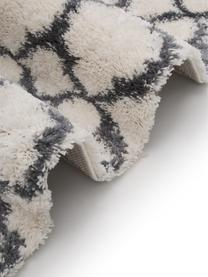 Hochflor-Teppich Mona in Creme/Dunkelgrau, Flor: 100% Polypropylen, Cremeweiß, Dunkelgrau, B 200 x L 300 cm (Größe L)