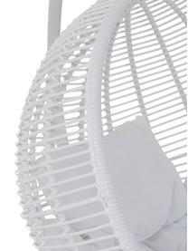 Runder Hängesessel Round mit Metall-Gestell, Weiß, 119 x 193 cm