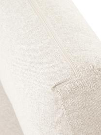 Bank Luna (3-zits) in beige met metalen poten, Bekleding: 100% polyester, Frame: massief beukenhout, Poten: gegalvaniseerd metaal, Geweven stof beige, 230 x 95 cm
