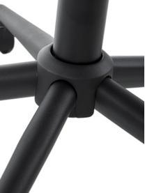 Samt-Bürodrehstuhl Grace, höhenverstellbar, Bezug: Polyester 25.000 Scheuert, Gestell: Metall, pulverbeschichtet, Samt Dunkelgrau, B 56 x T 54 cm