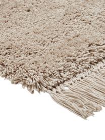 Flauschiger Hochflor-Teppich Dreamy mit Fransen, Flor: 100% Polyester, Creme, B 200 x L 300 cm (Größe L)