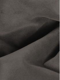 Samt-Ecksofa Moby in Braungrau mit Metall-Füßen, Bezug: Samt (Hochwertiger Polyes, Gestell: Massives Kiefernholz, Füße: Metall, pulverbeschichtet, Samt Braungrau, B 280 x T 160 cm