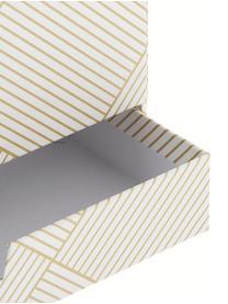 Büro-Organizer Greta, Fester, laminierter Karton (100% recyceltes Papier), Goldfarben, Weiß, 24 x 18 cm