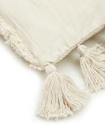Kissenhülle Judith mit dekorativer Verzierung, 100% Baumwolle, Beige, 30 x 50 cm