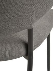 Krzesło tapicerowane Adele, 2 szt., Stelaż: metal malowany proszkowo, Szary, S 54 x G 57 cm
