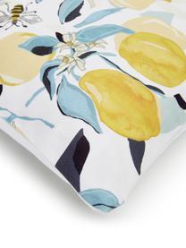 Kissenhülle Bumble mit Zitronen, 100% Baumwolle, Mehrfarbig, 40 x 40 cm