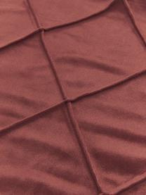 Housse de coussin velours terracotta Nobless, Rouge terracotta