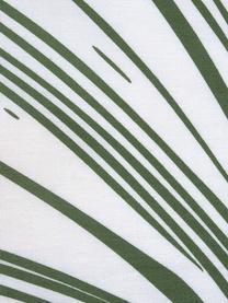 Pościel z bawełny Alessa, Biały, jasny zielony, ciemny zielony, 135 x 200 cm