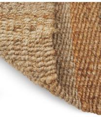 Handgefertigte Jute-Fußmatte Naturals mit Fransen, 100% Jute, Beige, 45 x 75 cm