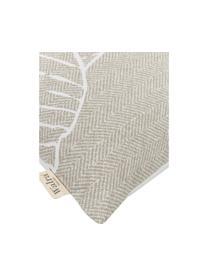 Baumwoll-Bettwäsche Leaves & Trees, Webart: Renforcé Renforcé besteht, Beige, Weiß, 135 x 200 cm + 1 Kissen 80 x 80 cm