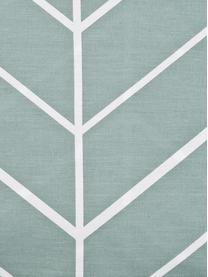 Povlečení zbavlny renforcé s grafickým vzorem Mirja, Zelená, krémově bílá