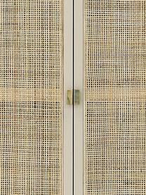Kleiderschrank Retro mit Kleiderstange, Korpus: Sukai-Holz, Mitteldichte , Griffe: Messing, Mit Kleiderstange, 125 x 200 cm