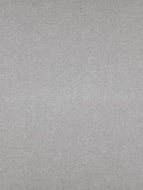 Poggiapiedi da divano in tessuto grigio chiaro Fluente, Rivestimento: 80% poliestere, 20% Ramie, Struttura: legno di pino massiccio, Piedini: metallo verniciato a polv, Tessuto grigio chiaro, Larg. 62 x Alt. 46 cm