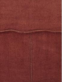 Coussin de sol pur lin fait main Saffron, Rouille