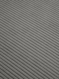 Modulare Ottomane Lennon in Grau aus Cord, Bezug: Cord (92% Polyester, 8% P, Gestell: Massives Kiefernholz, Spe, Cord Grau, B 269 x T 119 cm