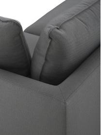 Großes Ecksofa Tribeca in Anthrazit, Bezug: 100% Polyester Der hochwe, Gestell: Massives Buchenholz, Füße: Massives Buchenholz, lack, Stoff Anthrazit, B 274 x T 192 cm