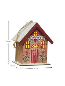 Batteriebetriebene LED Leuchtobjekte Winter House H 13, 3 Stück, Holz, beschichtet, Mehrfarbig, 11 x 13 cm