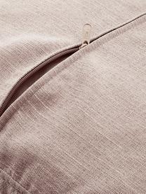 Divano 3 posti in tessuto rosa cipria Carrie, Rivestimento: poliestere 50.000 cicli d, Struttura: trucciolato, faesite, com, Piedini: metallo verniciato, Tessuto rosa cipria, Larg. 202 x Prof. 86 cm
