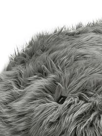 Zitzak van kunstvacht Flokati, Bekleding: 95% acryl, 5% polyester, Grijs, Ø 140 x H 90 cm