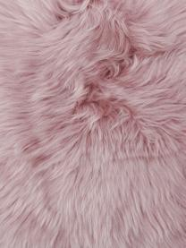 Schaffell-Kissenhülle Oslo in Rosa, glatt, Vorderseite: 100% Schaffell, Rückseite: Leinen, Vorderseite: RosaRückseite: Hellgrau, 30 x 50 cm