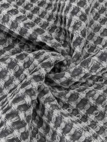 Waffelpiqué-Tagesdecke Kikai in Grau, 100% Baumwolle, Grau, B 180 x L 260 cm (für Betten bis 160 x 200)