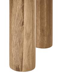 Beistelltisch Didi aus Eichenholz, Massives Eichenholz, geölt, Braun, Ø 40 x H 45 cm