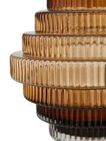 Transparente Glas-Vase Rilla mit Bernsteinschimmer, Glas, Bernsteinfarben, Ø 16 x H 16 cm