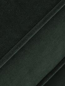 Fluwelen zitbank Chelsea (3-zits), Bekleding: fluweel (hoogwaardig poly, Frame: massief vurenhout, Poten: gecoat metaal, Donkergroen, B 228 x D 100 cm
