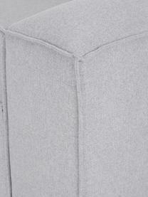 Modulares Ecksofa Lennon in Hellgrau, Bezug: Polyester Der hochwertige, Gestell: Massives Kiefernholz, Spe, Füße: Kunststoff Die Füße befin, Webstoff Hellgrau, B 238 x T 180 cm