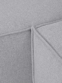 Modulaire hoekbank Lennon in lichtgrijs, Bekleding: polyester De hoogwaardige, Frame: massief grenenhout, multi, Poten: kunststof, Geweven stof lichtgrijs, B 238 x D 180 cm