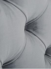 Premium fluwelen boxspring bed Phoebe, Matras: 7-zones-pocketveringkern , Poten: massief gelakt beukenhout, Donkergrijs, 160 x 200 cm