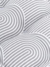 Sitzkissen Arc in Hellgrau/Weiß, Bezug: 100% Baumwolle, Grau, 40 x 40 cm
