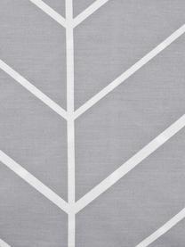 Baumwoll-Kopfkissenbezüge Mirja mit grafischem Muster, 2 Stück, Webart: Renforcé Fadendichte 144 , Grau, Cremeweiß, 40 x 80 cm