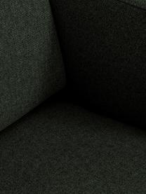 Ecksofa Fluente in Dunkelgrün mit Metall-Füßen, Bezug: 100% Polyester Der hochwe, Gestell: Massives Kiefernholz, Füße: Metall, pulverbeschichtet, Webstoff Dunkelgrün, B 221 x T 200 cm