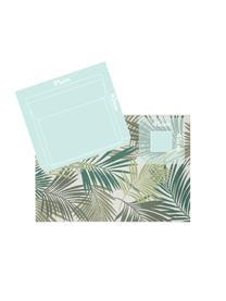 Tappeto da interno-esterno con motivo a foglia Vai, 100% polipropilene, Verde, beige, Larg. 200 x Lung. 290 cm (taglia L)