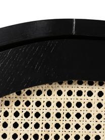 Sideboard Exalt mit Wiener Geflecht, Füße: Metall, beschichtet, Schwarz, Beige, 165 x 74 cm