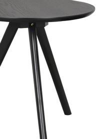 Beistelltisch-Set Yumi in Schwarz, 2-tlg., Tischplatte: Mitteldichte Holzfaserpla, Beine: Gummibaumholz, massiv, la, Schwarz, Set mit verschiedenen Größen