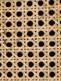 Szafka nocna z szufladami Vienna, Korpus: lite drewno mangowe, laki, Nogi: metal malowany proszkowo , Czarny, beżowy, odcienie złotego, S 45 x W 55 cm