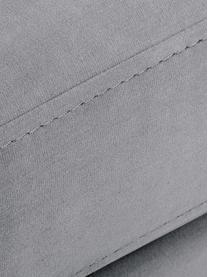 Divano 3 posti in velluto grigio chiaro Luna, Rivestimento: velluto (poliestere) 80.0, Struttura: legno di faggio massiccio, Velluto grigio beige, oro, Larg. 230 x Prof. 95 cm