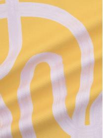 Kissenhülle Elijah mit abstraktem Print, 100% Baumwolle, Beige, Schwarz, 40 x 40 cm