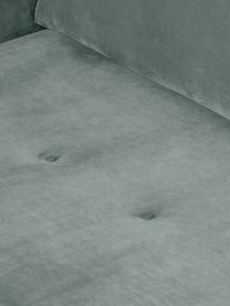 Fluwelen hoekbank Saint (3-zits), Bekleding: fluweel (polyester), Frame: massief eikenhout, spaanp, Saliekleurig, B 243 x D 220 cm