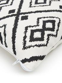 Boho-Kissenhülle Delilah in Cremeweiß/Schwarz, 100% Baumwolle, Weiß, Schwarz, 45 x 45 cm