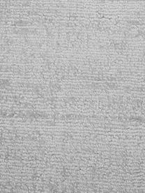 Rond viscose vloerkleed Jane in zilvergrijs, handgeweven, Bovenzijde: 100% viscose, Onderzijde: 100% katoen, Zilvergrijs, Ø 150 cm (maat M)