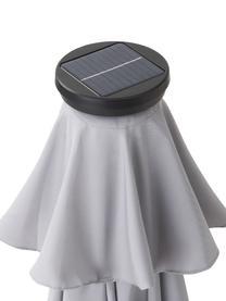 Sonnenschirm Sun & Stars inkl. LED-Lichter, Gestell: Metall, beschichtet, Hellgrau, Ø 180 x H 200 cm