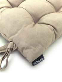 Einfarbiges Sitzkissen Panama in Sandfarben, Bezug: 50% Baumwolle, 45% Polyes, Sandfarben, 45 x 45 cm