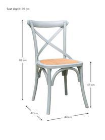 Krzesło z drewna Jungle, Jasny zielony, S 44 x G 47 cm