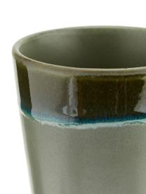 Handgemaakte XS beker 70's in retro stijl, 6-delig, Keramiek, Roze, beige, blauw, Ø 8 x H 8 cm