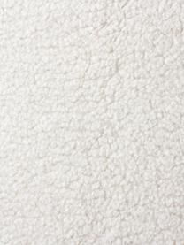 Teddy fauteuil Fluente in crèmewit met metalen poten, Bekleding: 100% polyester (teddyvach, Frame: massief grenenhout, Poten: gepoedercoat metaal, Crèmewit, B 74 x D 85 cm